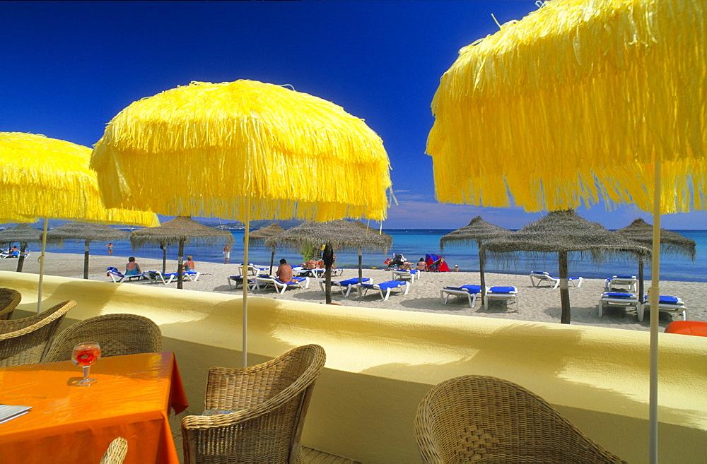 Europe, Spain, Majorca, Can Picafort, beach