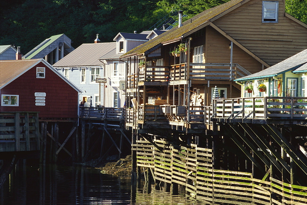 Houses in Creek Street, Ketchikan, Alaska, USA