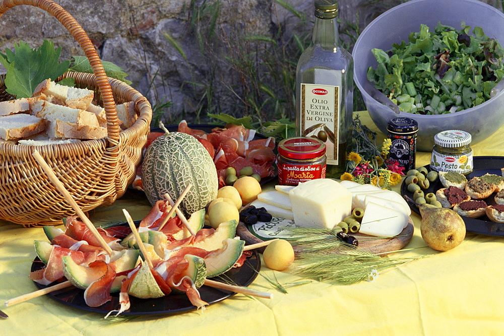 Italian delicatessen, Tuscany, Italy