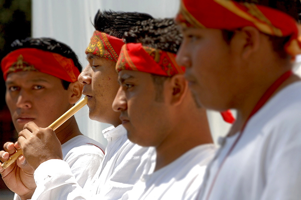 Indigenous musicans in Oaxáca, Mexico