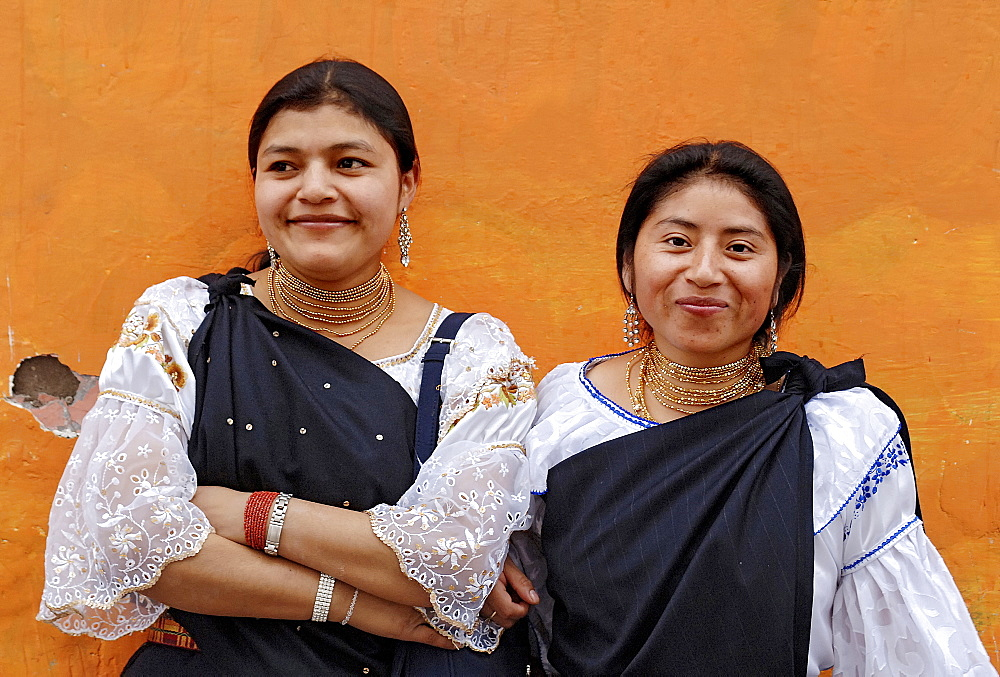 Indigenous women in Otavalo, Ecuador, South America