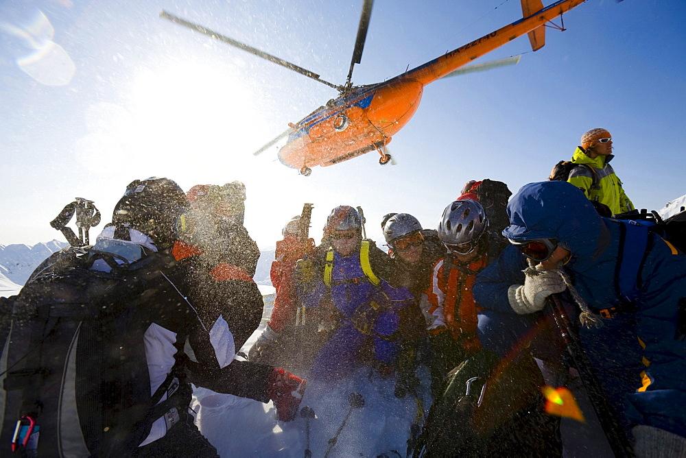 Heliskiing Kamchatka, Sibiria, Russia, a MI-8 helicopter