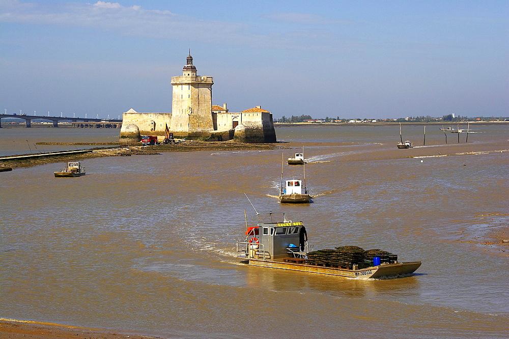 Pointe du Chapus, Le Chapus, oyster-culture, Fort Louvois, dept Charente-Maritime, Charente-VendÈe, France, Europe