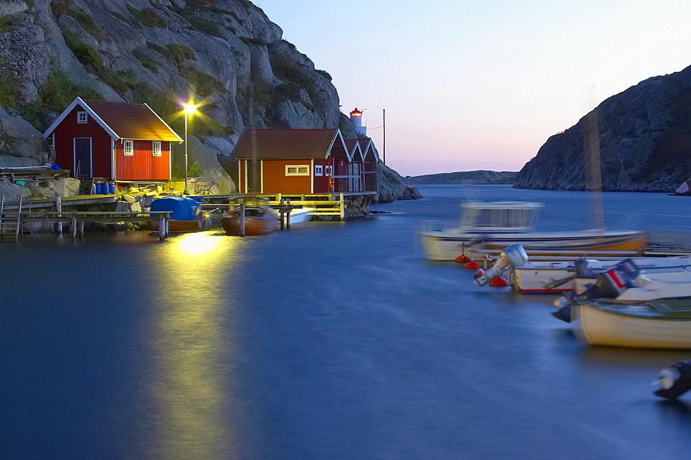 Evening at the harbour of Havstenssund, Bohuslaen, southern Sweden