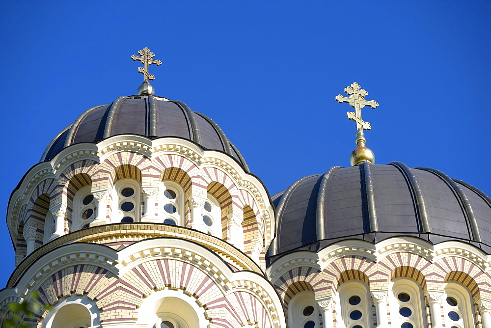 Steeple and cupola of the orthodox cathedral