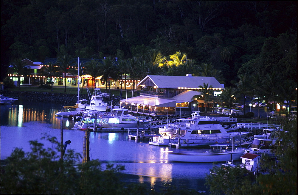 Marina on Hamilton Island in the evening, Whitsunday Islands, Great Barrier Reef, Australia