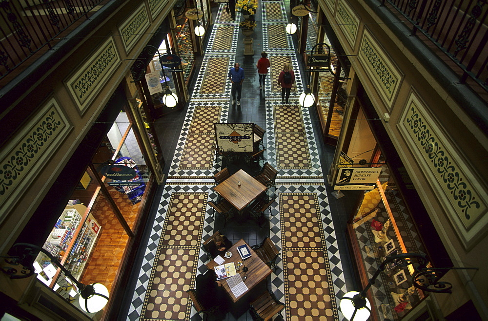 The shopping mall of the Adelaide Arcade in the centre of Adelaide, Adelaide, South Australia, Australia