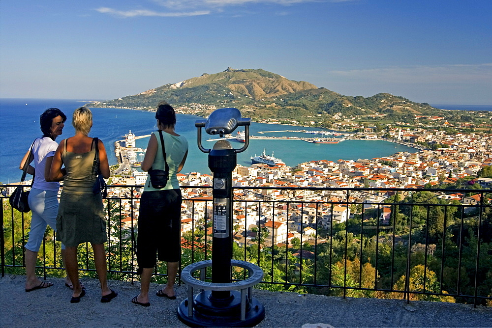 Greece Zakynthos town panoramic view from Strani hill
