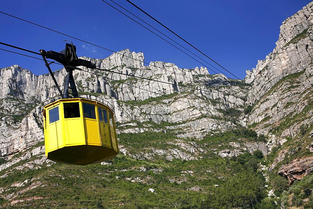 Cablecar to Montserrat Monastery, Catalonia, Spain