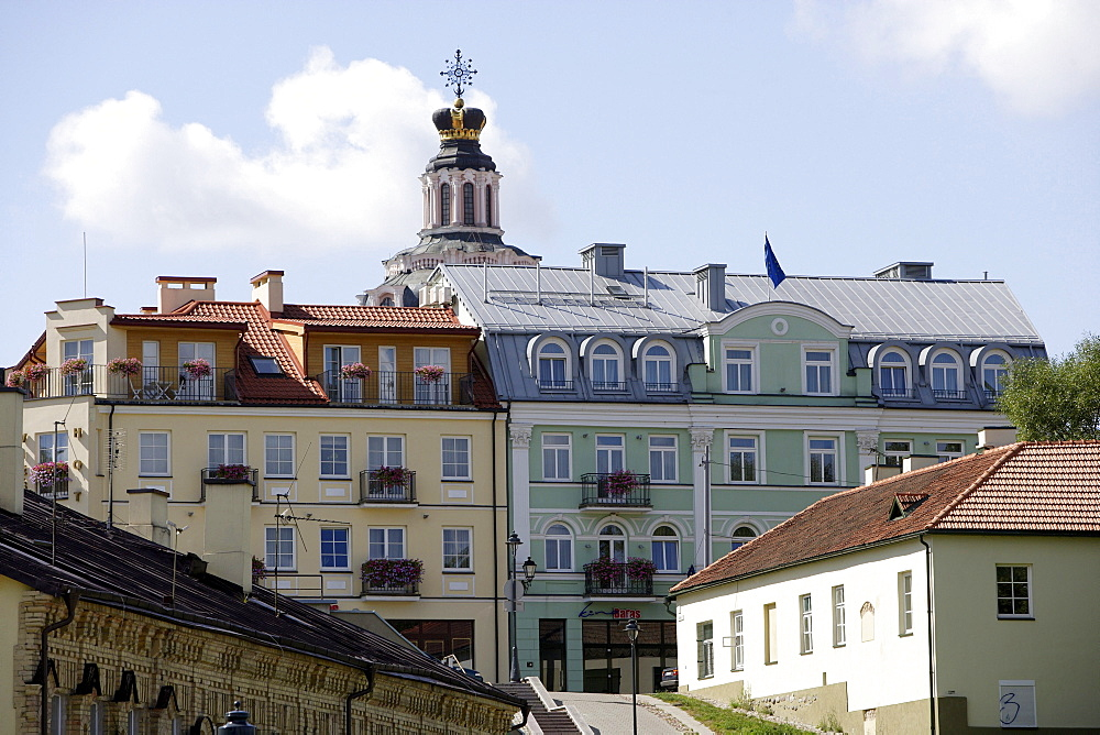A view of Boksto Street and St. Casimir church, Vilnius, Lithuania