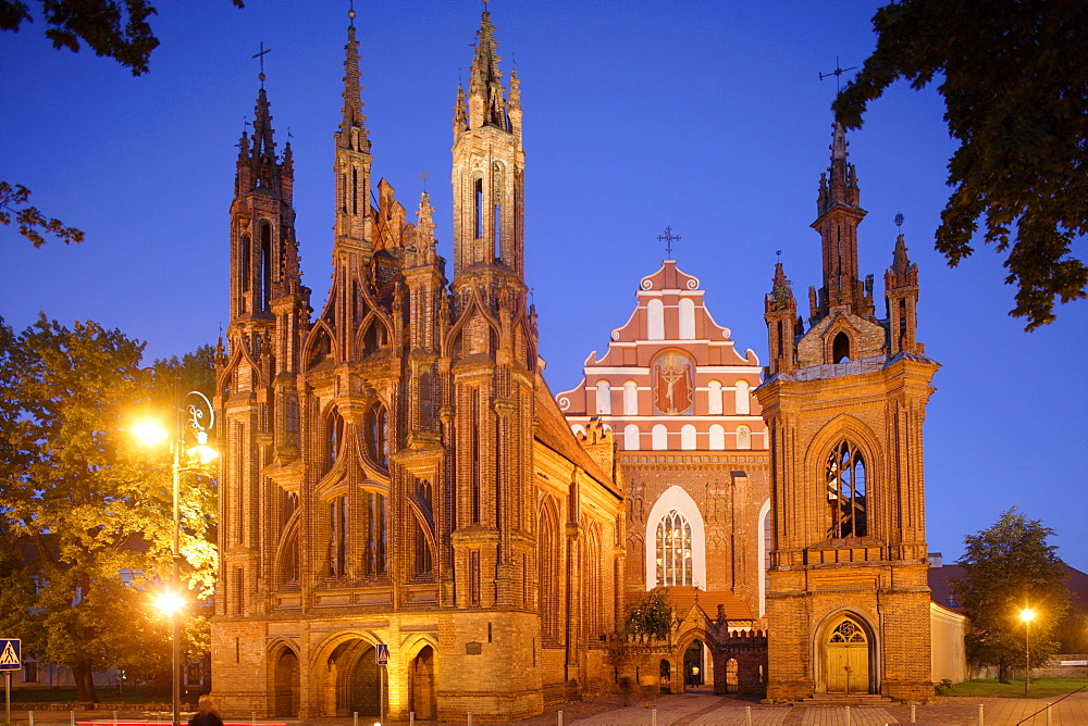 St. Anne's church and the church of the Bernardine monastery are also known as The Gothic Ensemble, Lithuania, Vilnius