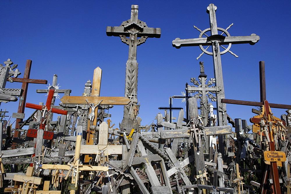 Mountain of crosses in Siauliai, Lithuania