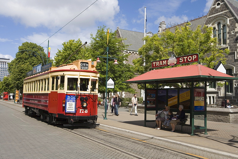 Christchurch Tram on Worcester Street, Christchurch, South Island, New Zealand