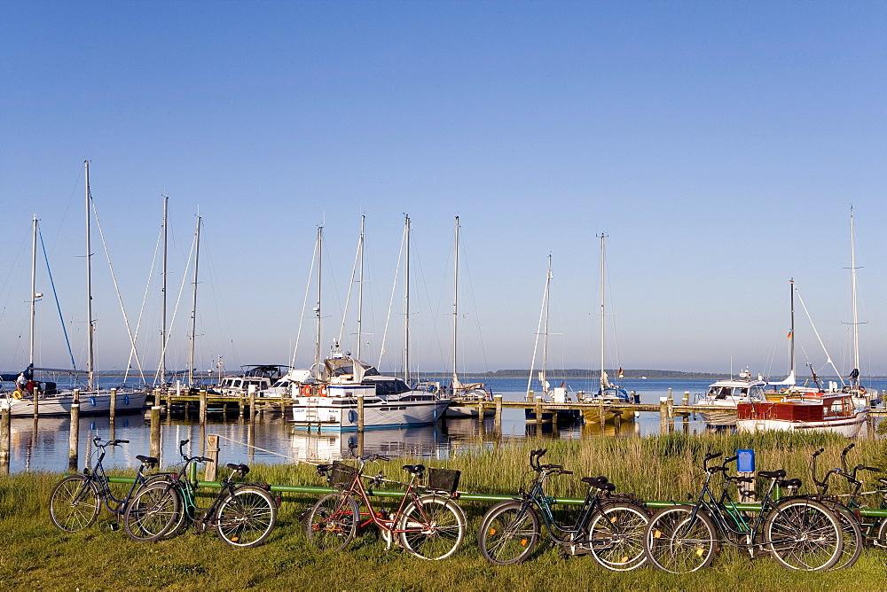 Marina, Vitte, Hiddensee, Baltic Sea, Mecklenburg-Western Pomerania, Germany