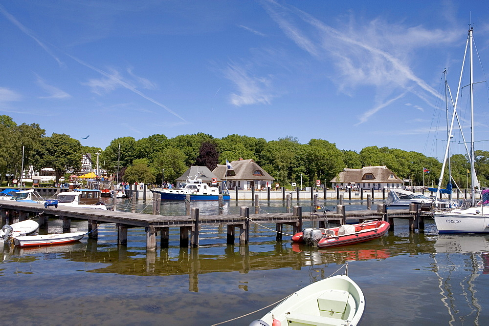 Harbour, Kloster, Hiddensee, Baltic Sea, Mecklenburg-Western Pomerania, Germany