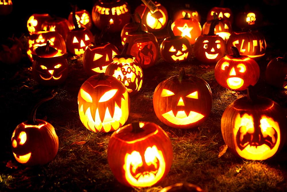 Jack-O-Lantern at Pumpkin Festival in Keene, New Hampshire, USA