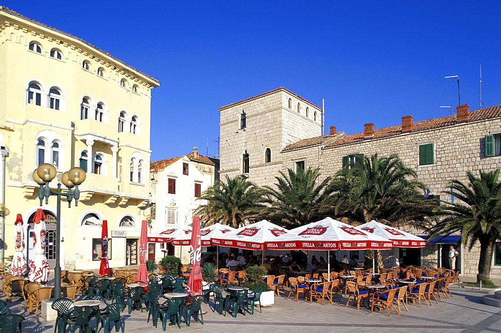 Pavement Cafe, Trg Municipium Arba, Rab, Rab island, bay of Kvarner, Croatia