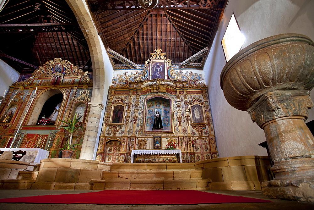 Altar, church Iglesia de Virgin de la Regla, Pajara, Fuerteventura, Canary Islands, Spain