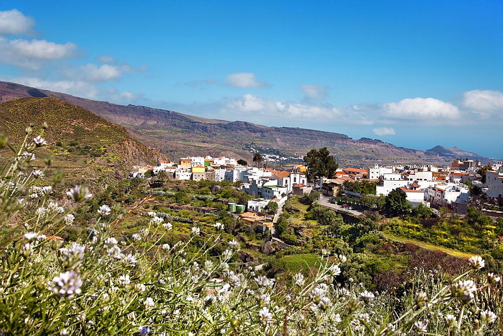View over San Bartolome de Tirajana, Gran Canaria, Canary Islands, Spain