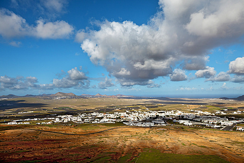 Overview of Teguise, Lanzarote, Canary Islands, Spain, Europe