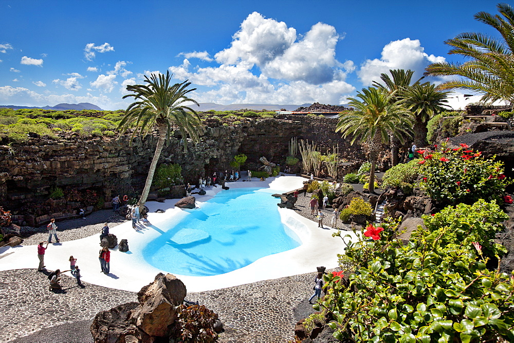 Jameos del Agua, architect Cesar Manrique, Lanzarote, Canary Islands, Spain, Europe
