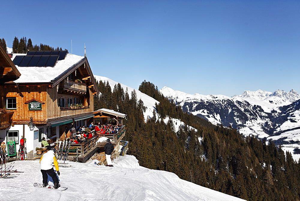 Transhumance, Hut, Skiing, Kitzbuhel, Tyrol, Austria