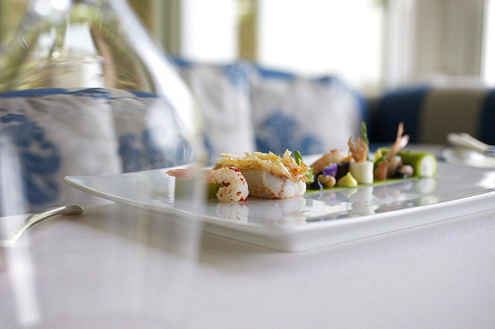 Starters at gourmet restaurant Ocean, Chef Hans Neuner, Vila Vita Hotel, near Armacao de Pera, Algarve, Portugal, Europe