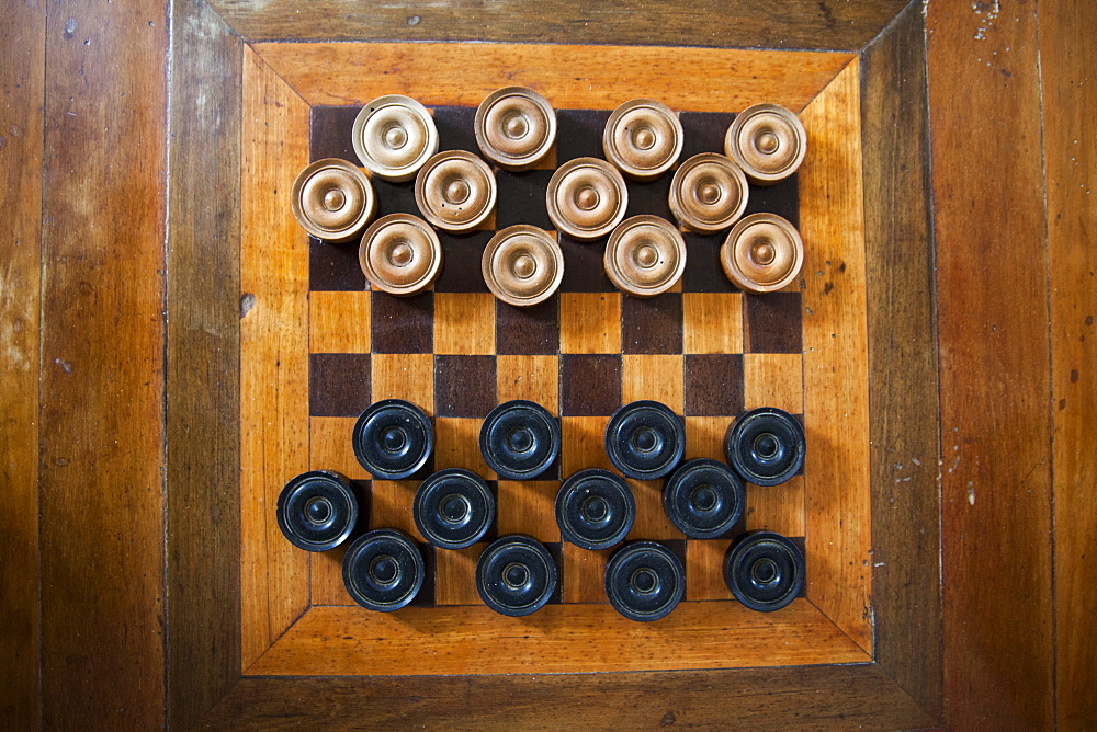 Checkers board at Greenwood Greathouse, near Falmouth, St. James, Jamaica, Caribbean