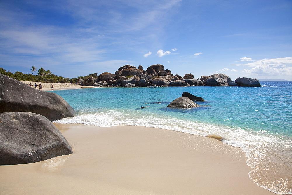 Giant granite boulders at Devil's Beach near The Baths, Virgin Gorda, Virgin Gorda, British Virgin Islands, Caribbean