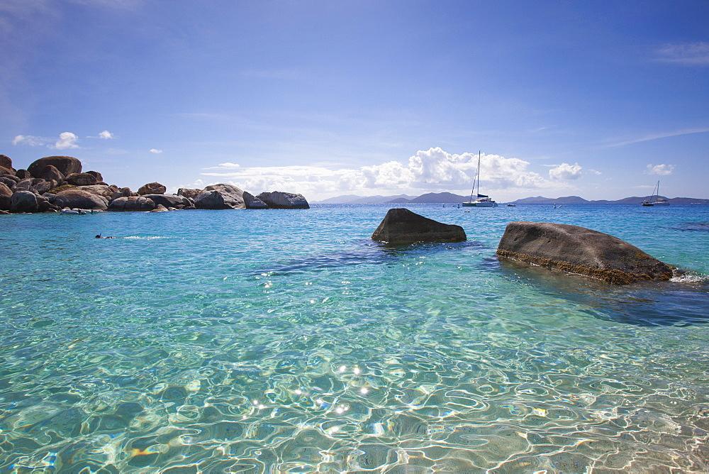 Granite boulders at Devil's Beach near The Baths, Virgin Gorda, Virgin Gorda, British Virgin Islands, Caribbean