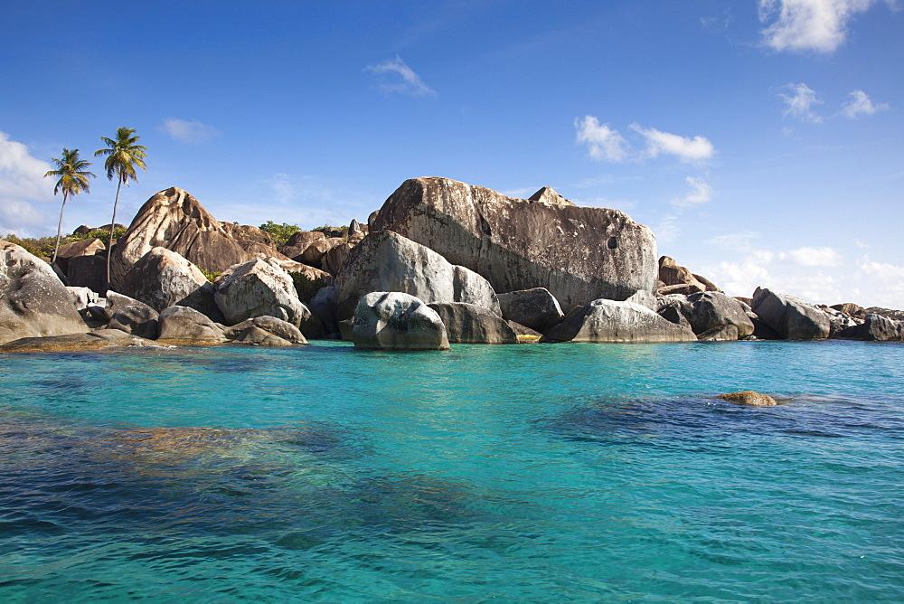 Giant granite boulders at The Baths, Virgin Gorda, Virgin Gorda, British Virgin Islands, Caribbean