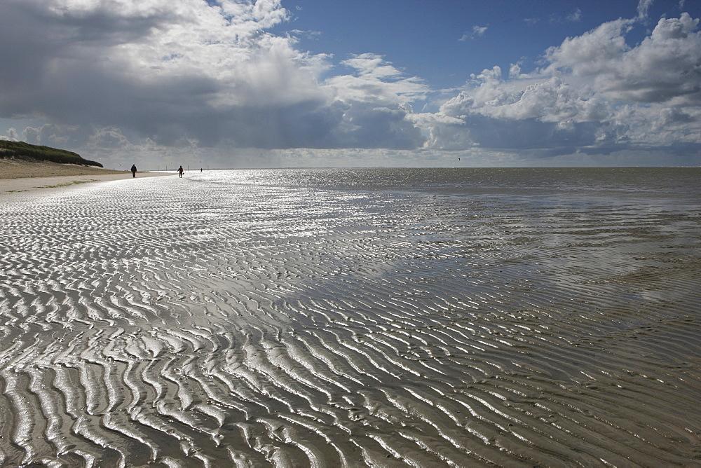 Sand ripples on the beach, Spiekeroog Island, Lower Saxon Wadden Sea National Park, Lower Saxony, Deutschland