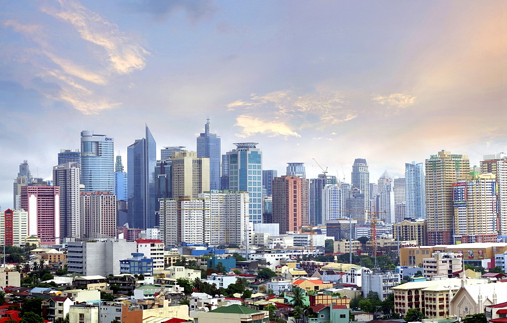 Skyline of Makati City, Manila, Philippines, Asia