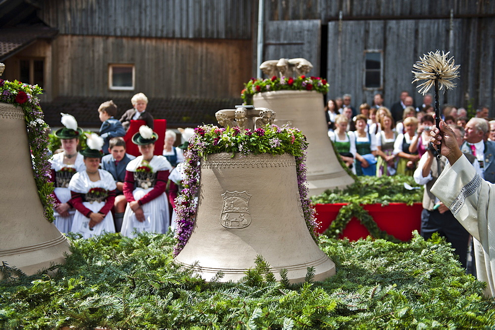 Christening of a bell, Antdorf, Bavaria, Germany