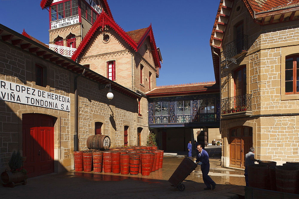 Bodega R. Lopez de Heredia, Vina Tondonia, winery, Camino Vasco del interior, Way of Saint James, Camino de Santiago, pilgrims way, La Rioja, Northern Spain, Spain, Europe