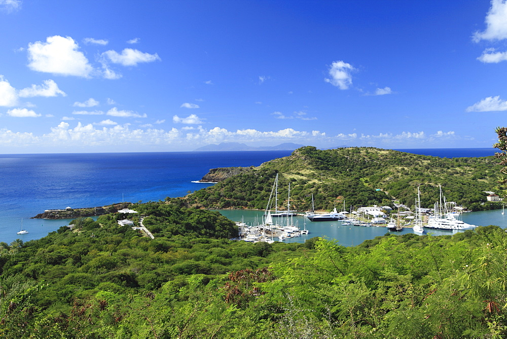Sailing boats at the English Harbour, Antigua, West Indies, Caribbean, Central America, America