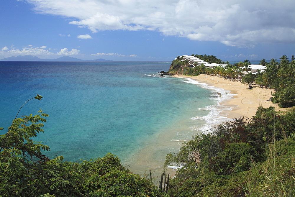 Sandy beach in the Carlisle Bay, Antigua, West Indies, Caribbean, Central America, America
