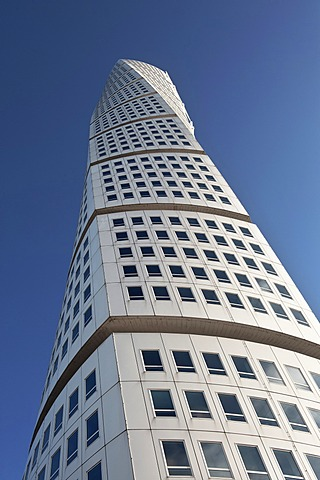 High rise building Turning Torso, architect Santiago Calatrava, Malmo, Sweden, Europe