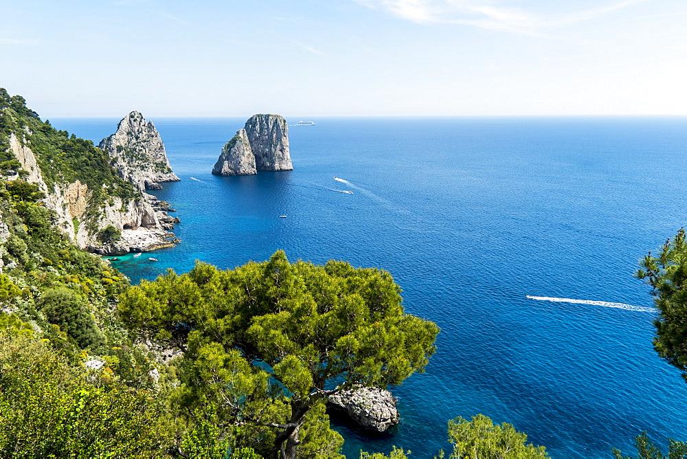 Faraglioni Rocks, Capri, Campania, Italy