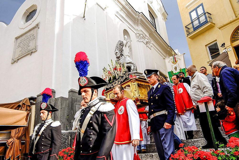 procession in Capri city, Capri, Campania, Italy