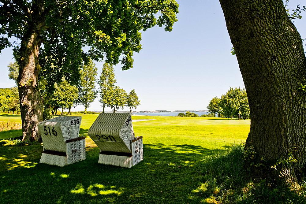 Foerde Golf Club Gluecksburg, Gluecksburg, Flensburg Fjord, Schleswig Holstein, Germany