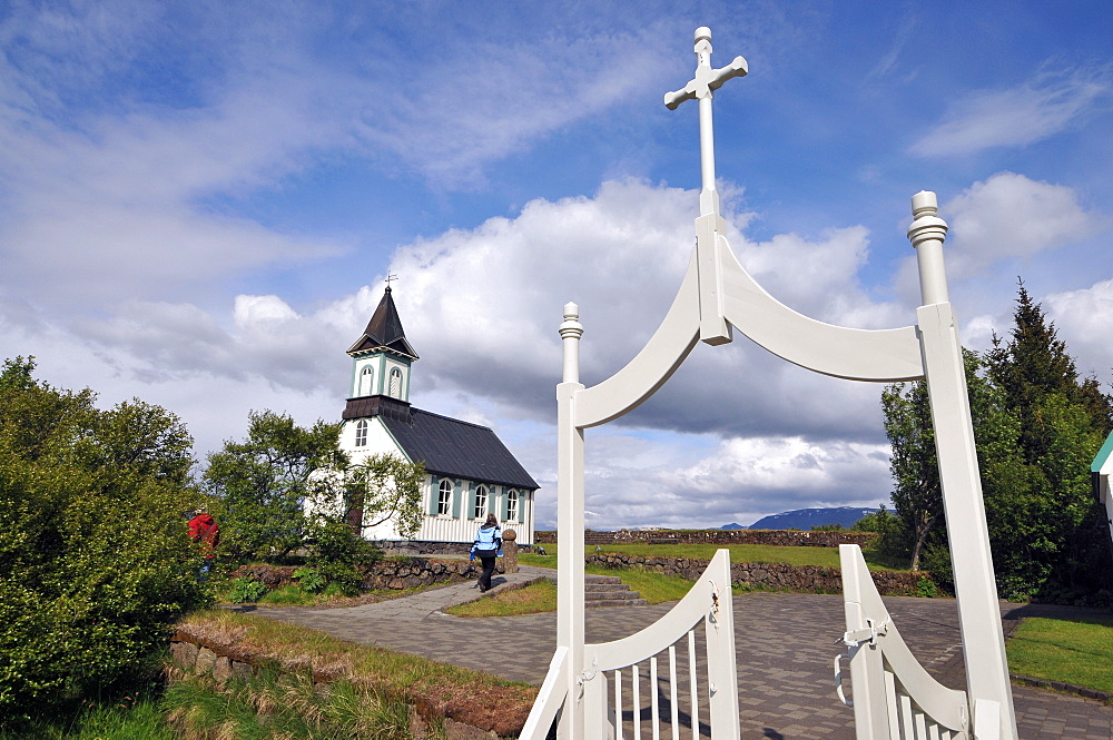Church at Pingvellir at the golden circle, Iceland, Europe