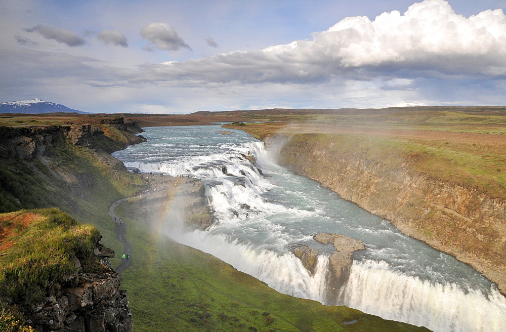 Waterfall Gullfoss at the golden circle, Iceland, Europe