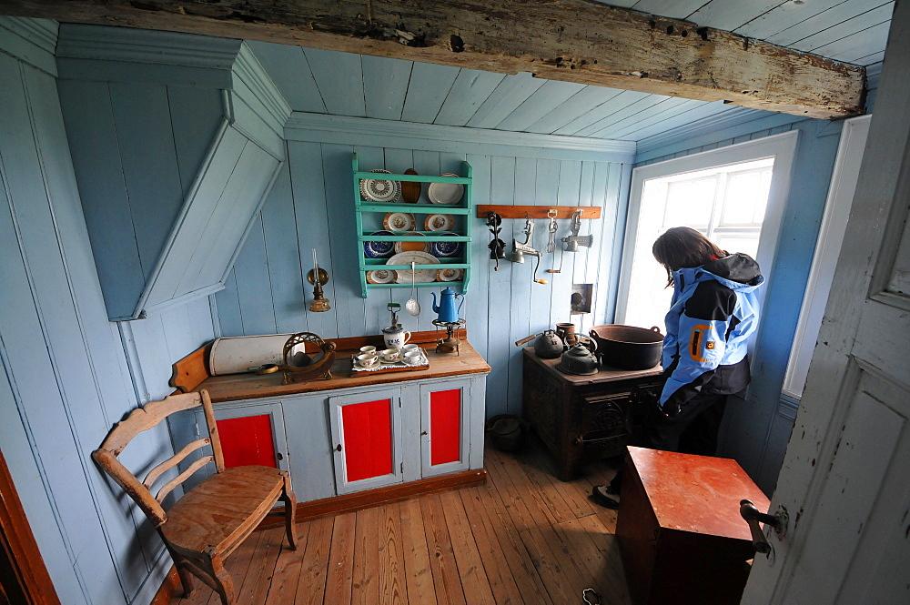 Kitchen, museum, Skogar, Rangarping eystra, Sudurland, Iceland