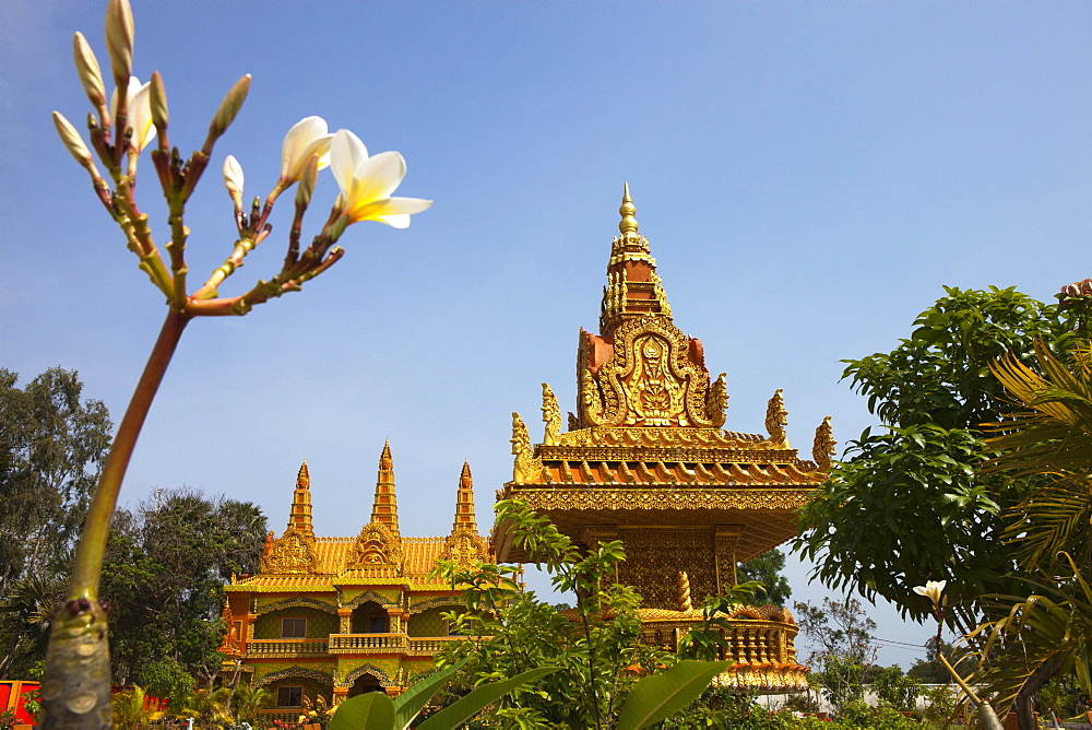 Buddhistic temple in the Kampot province, Cambodia, Asia