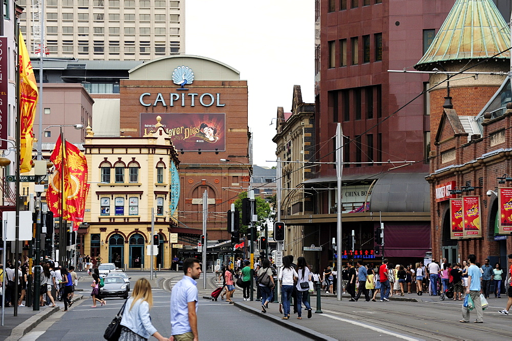 People on Hay Street at Paddy's Market, Haymarket, Sydney, New South Wales, NSW, Australia