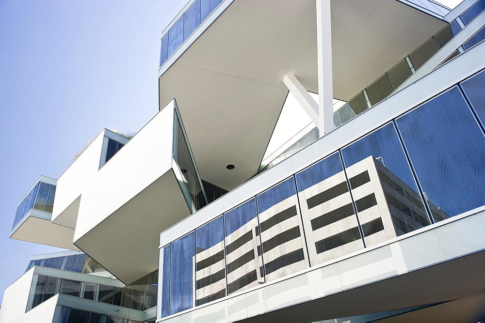 Exterior view of the Actelion HQ administrational building, Architects Herzog & de Meuron, Allschwil, Basel, Switzerland, Europe