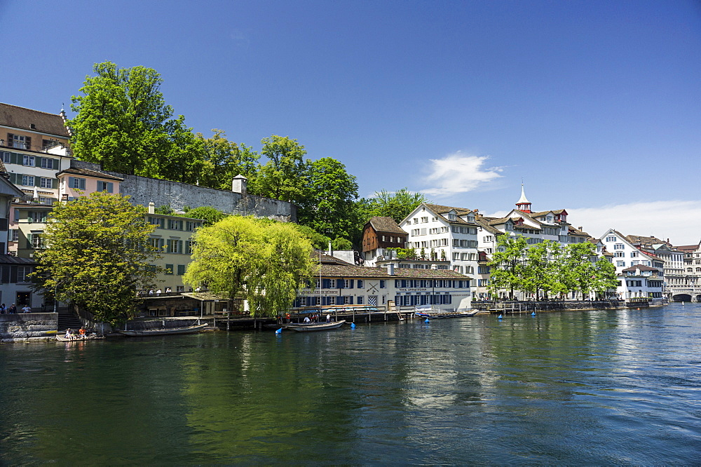Riverside of Limmat, Schipfe, Lindenhof, Zurich, Switzerland