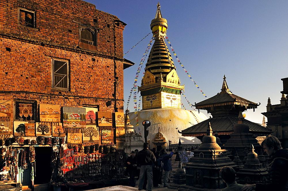 Swayambhunath Stupa, Kathmandu, Kathmandu Valley, Nepal, Asia