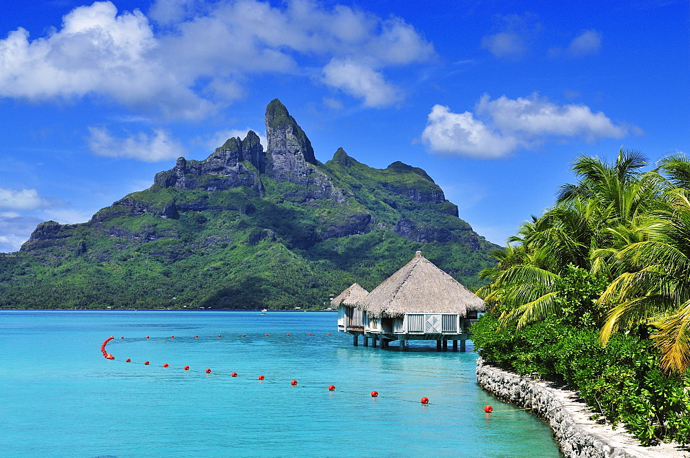 Mount Otemanu, Saint Regis Bora Bora Resort, Bora Bora, Society Islands, French Polynesia, Windward Islands, South Pacific